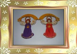 zwei Engel im Rahmen